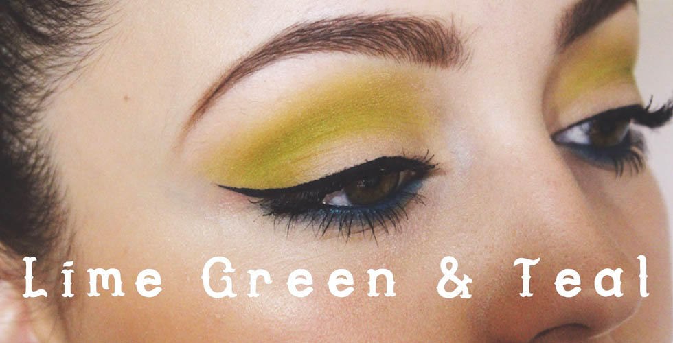 Urban Decay Electric Palette Tutorial- Lime Green & Teal